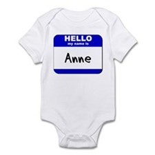 hello my name is anne  Onesie
