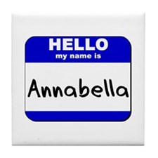 hello my name is annabella  Tile Coaster