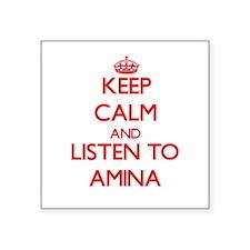 Keep Calm and listen to Amina Sticker