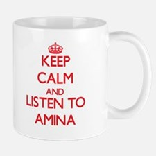 Keep Calm and listen to Amina Mugs