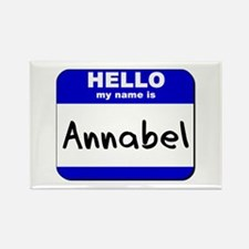 hello my name is annabel Rectangle Magnet