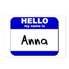 hello my name is anna  Postcards (Package of 8)