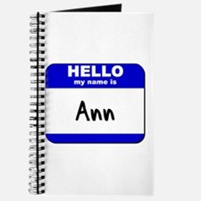 hello my name is ann Journal