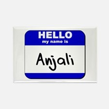 hello my name is anjali Rectangle Magnet