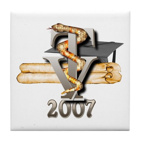 Vet Tech Grad 2007 Tile Coaster
