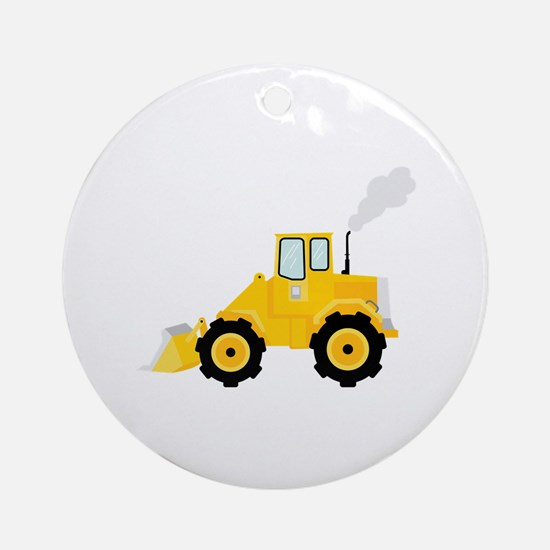 Loader Tractor Ornament (Round)