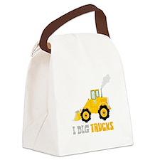 I DIG TRUCKS Canvas Lunch Bag