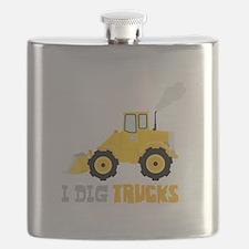 I DIG TRUCKS Flask