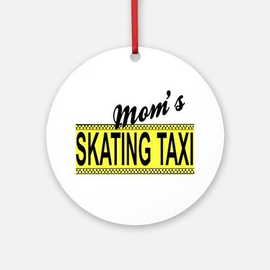 Mom's Skating Taxi Ceramic Ornament