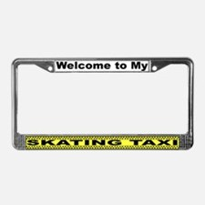 Mom's Skating Taxi License Plate Frame