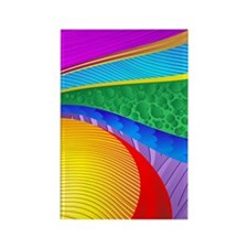 Rainbow Colors Abstract Fantasy Rectangle Magnet