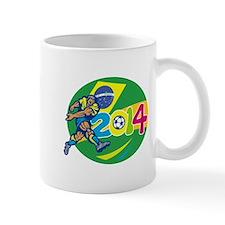 Brazil 2014 Soccer Football Player Retro Mugs
