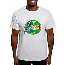 Brazil 2014 Soccer Football Player Retro T-Shirt