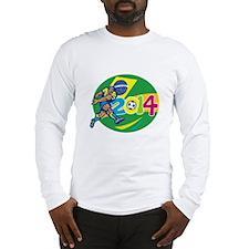 Brazil 2014 Soccer Football Player Retro Long Slee