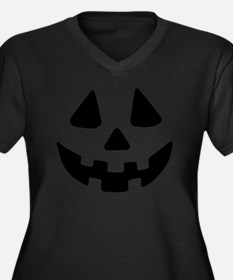 Jack OLanter Women's Plus Size V-Neck Dark T-Shirt