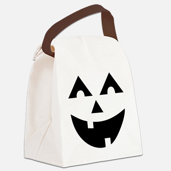 Laughing Jack O'Lantern Canvas Lunch Bag