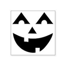 """Laughing Jack O'Lantern Square Sticker 3"""" x 3"""""""