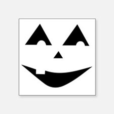 "One Tooth Jack O'Lantern Square Sticker 3"" x 3"""