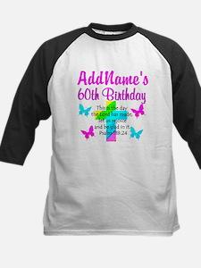 GOD LOVING 60TH Kids Baseball Jersey