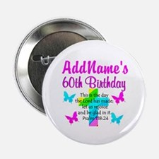 "GOD LOVING 60TH 2.25"" Button (10 pack)"