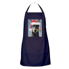Doberman Christmas Apron (dark)