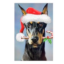 Doberman Christmas Postcards (Package of 8)