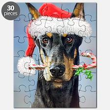 Doberman Christmas Puzzle