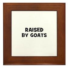 raised by goats Framed Tile