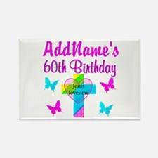 REJOICING 60TH Rectangle Magnet