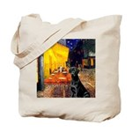 Cafe & Black Lab Tote Bag