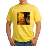 Cafe & Black Lab Yellow T-Shirt