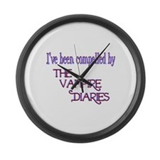 Compelled by Vampire Diaries Large Wall Clock