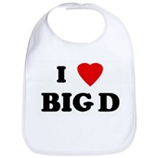 I Love BIG D Bib