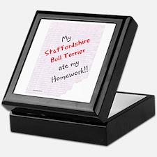 Staffy Homework Keepsake Box