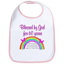 HEAVENLY 60TH Bib