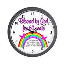 HEAVENLY 60TH Wall Clock