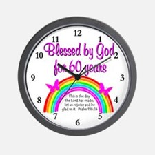 HEAVENLY 60TH Wall Clock