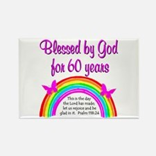 HEAVENLY 60TH Rectangle Magnet
