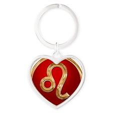 Leo Heart Keychain