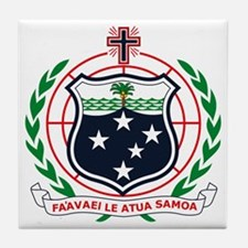 Western Samoa Coat of Arms Tile Coaster