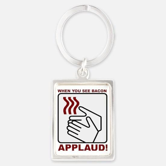 Applaud Bacon Portrait Keychain