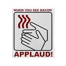 Applaud Bacon Throw Blanket
