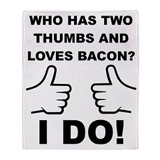 Two Thumbs Up For Bacon Throw Blanket