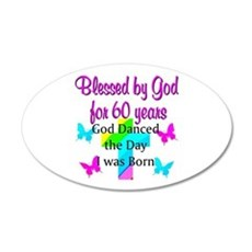 CHRISTIAN 60TH Wall Decal
