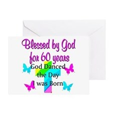 CHRISTIAN 60TH Greeting Card