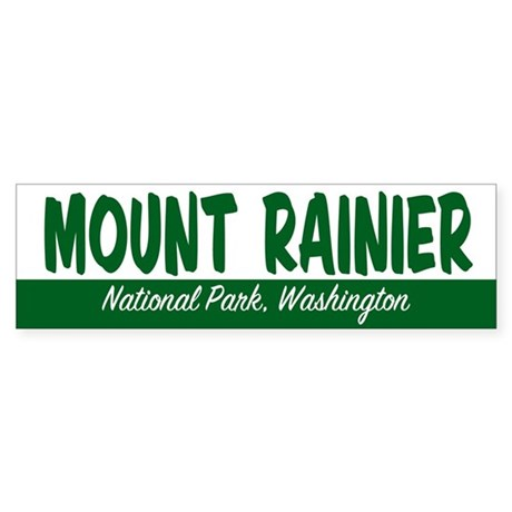 Mount Rainier National Park Bumper Sticker