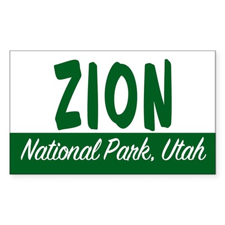 Zion National Park Rectangle Sticker