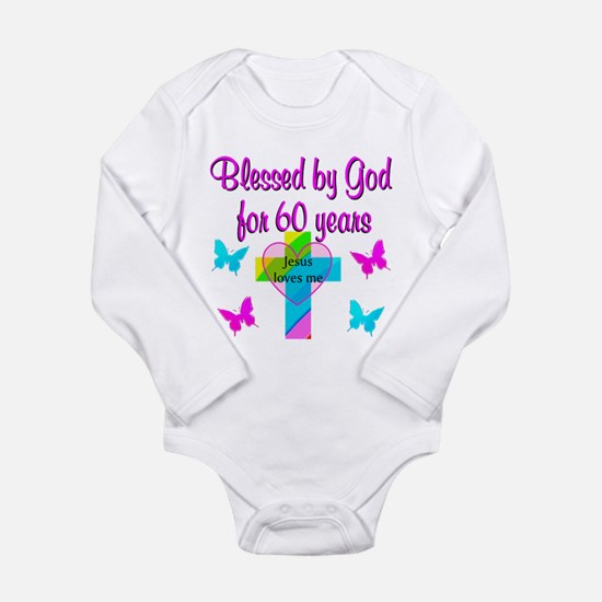 GOD LOVING 60TH Long Sleeve Infant Bodysuit