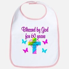 GOD LOVING 60TH Bib
