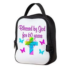 GOD LOVING 60TH Neoprene Lunch Bag